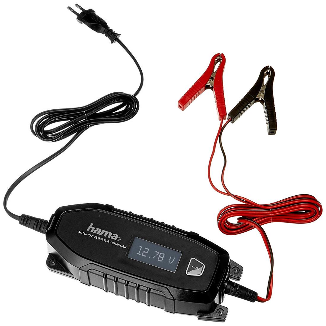 00136686 Hama Automatik Batterie Ladegerät 6V12V4A, für