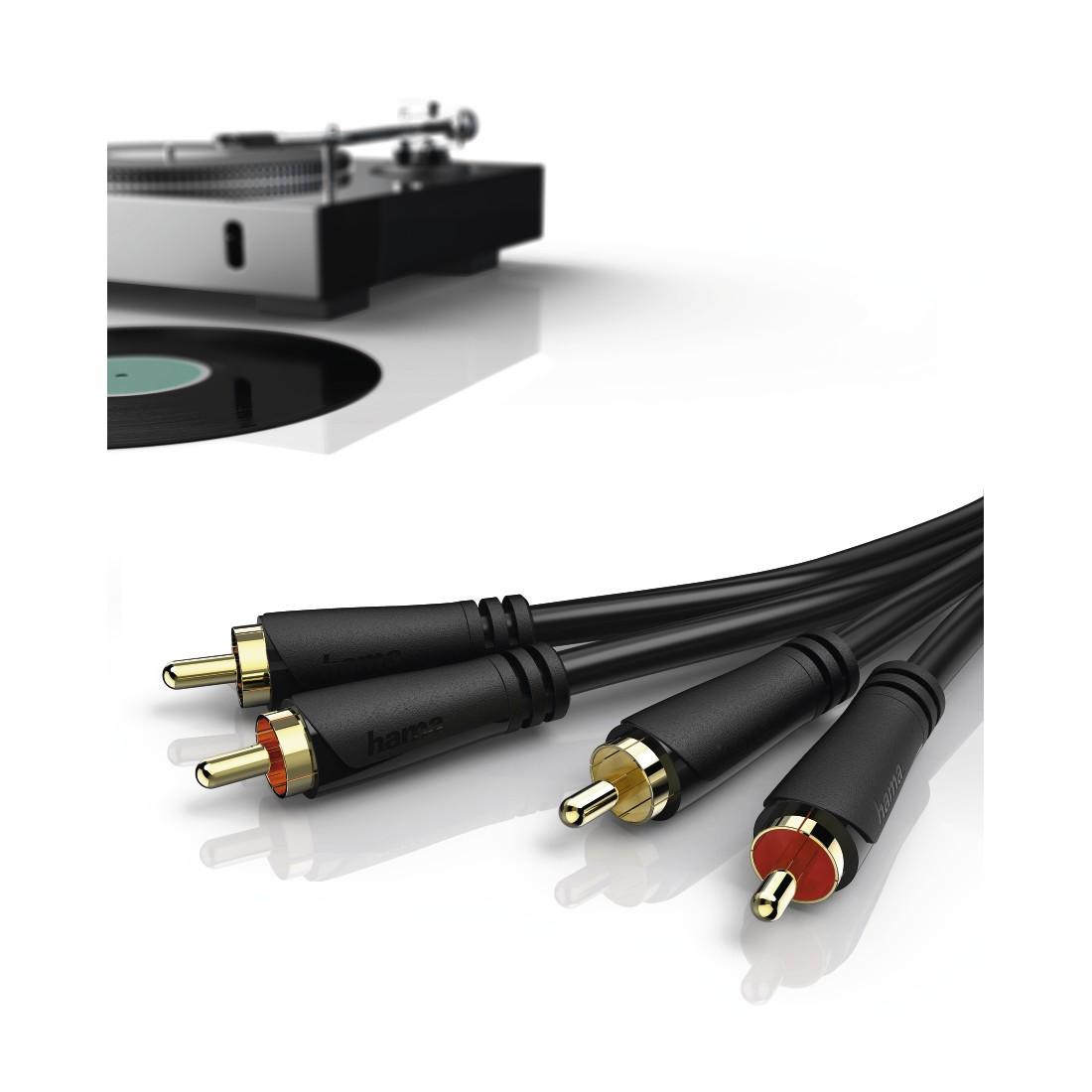 00181410 hama audio kabel 2 cinch stecker 2 cinch. Black Bedroom Furniture Sets. Home Design Ideas