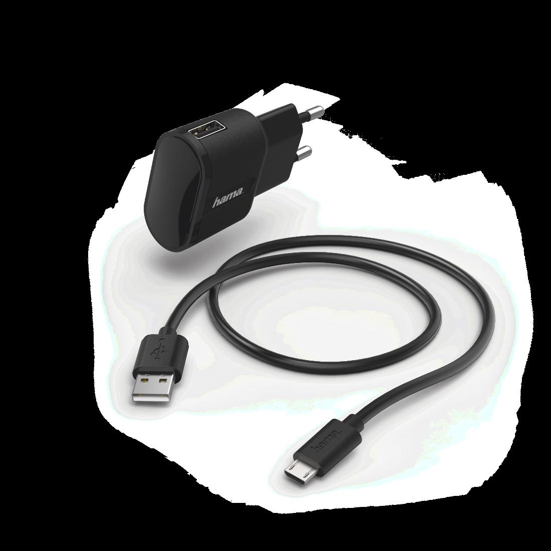 Hama Kfz Ladegerät Micro USB 1 A schwarz Lade Netzteil für