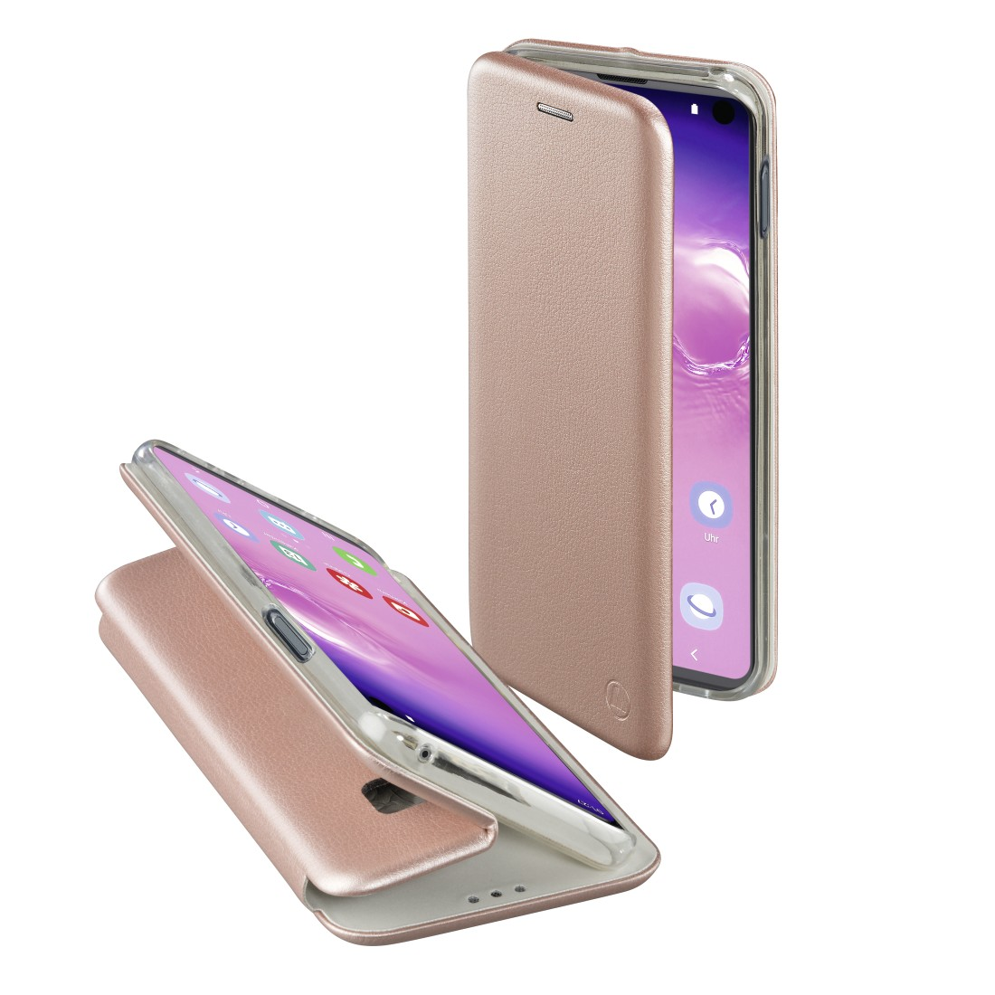 "abx High-Res Image - Hama, ""Curve"" Booklet for Samsung Galaxy S10, rose gold"