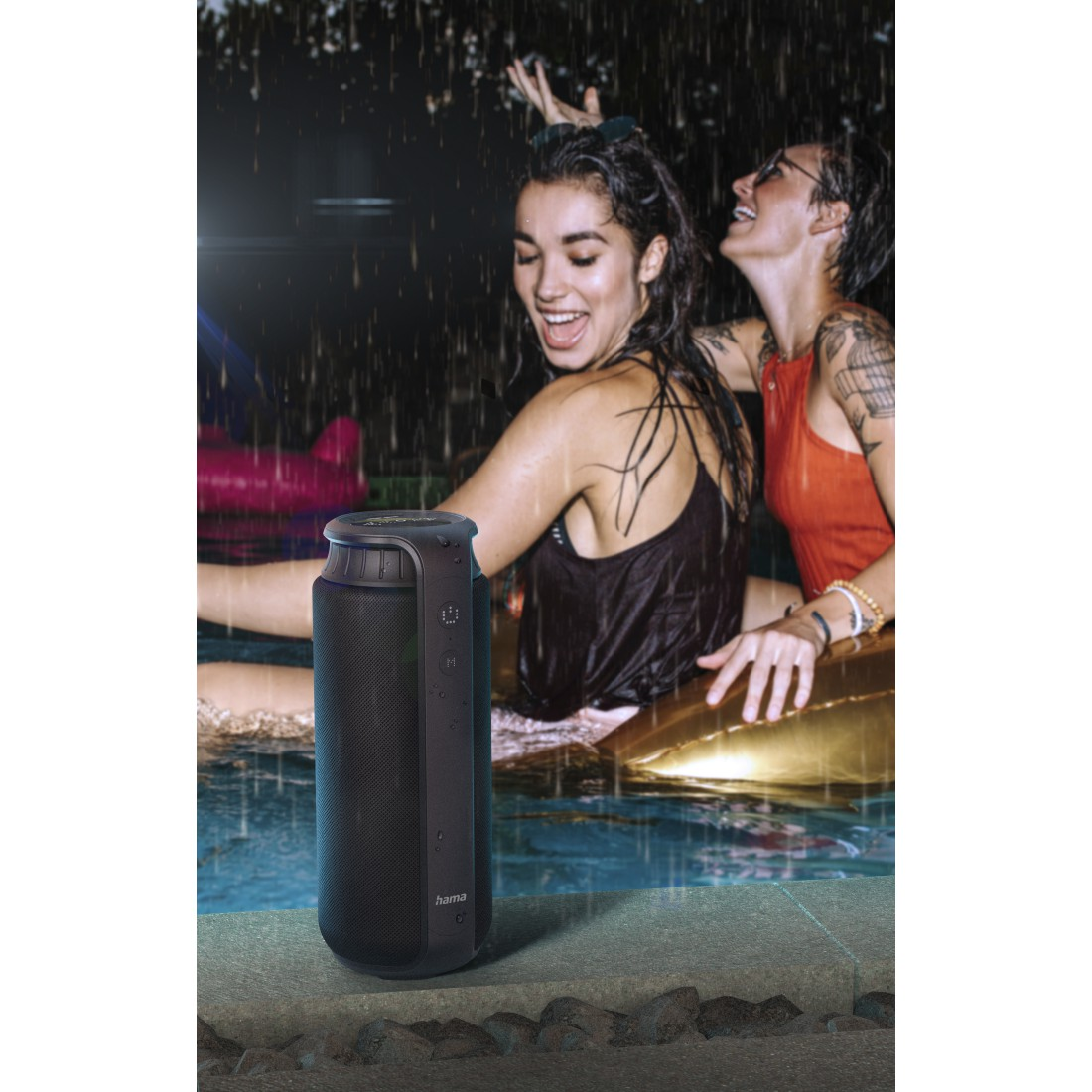 "awx2 High-Res Appliance 2 - Hama, Bluetooth® ""Pipe 2.0"" Loudspeaker, Waterproof, 24 W, black"