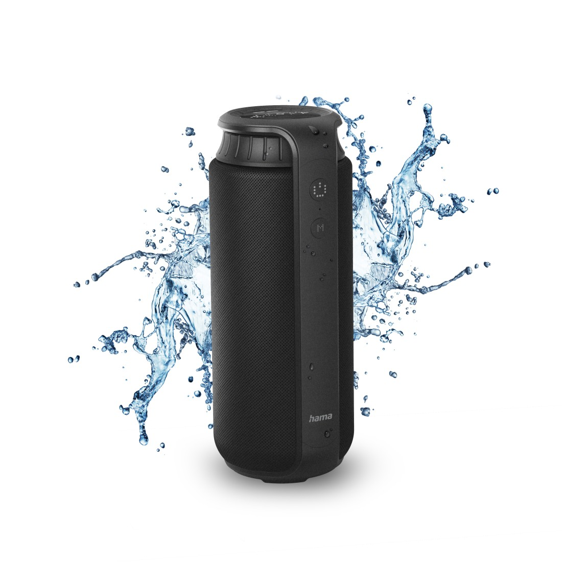 "awx3 High-Res Appliance 3 - Hama, Bluetooth® ""Pipe 2.0"" Loudspeaker, Waterproof, 24 W, black"